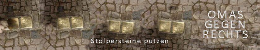 Stolpersteine - werden von OMAS GEGEN RECHTS BERLIN geputzt