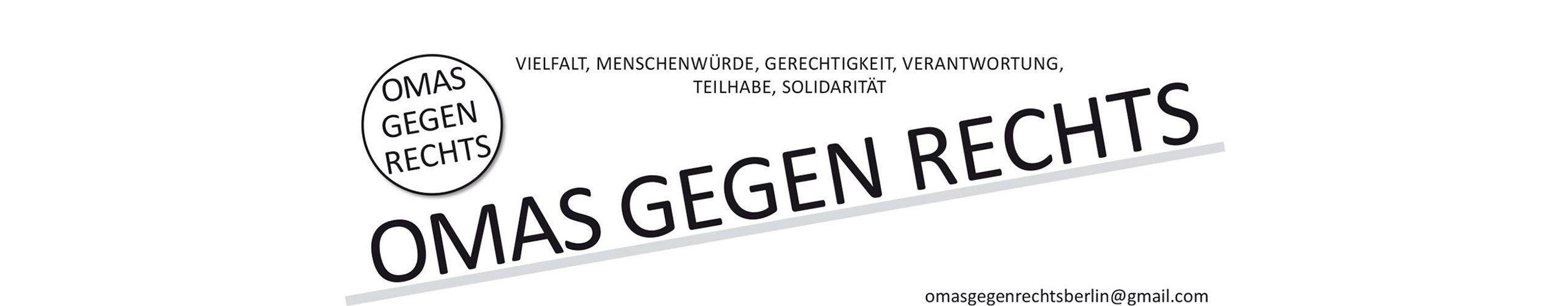 OMAS GEGEN RECHTS BERLIN  /  Deutschland-Bündnis